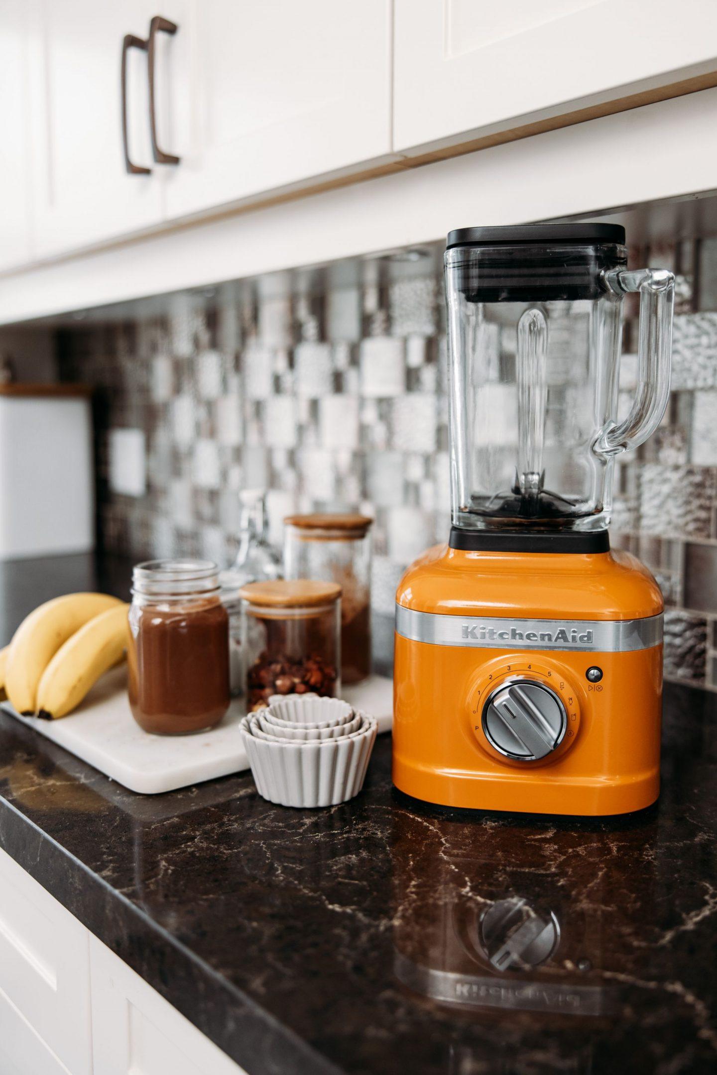 Vegan Chocolate, Banana, Hazelnut Ice Cream with my KitchenAid K400 Blender